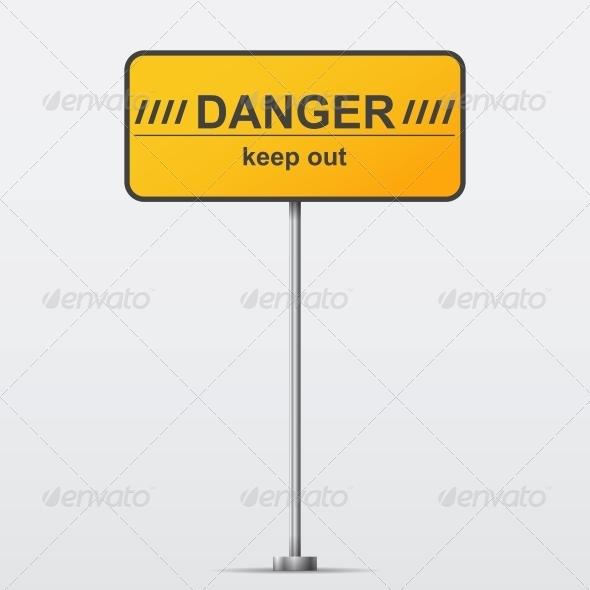 GraphicRiver Danger Road Sign 6537461