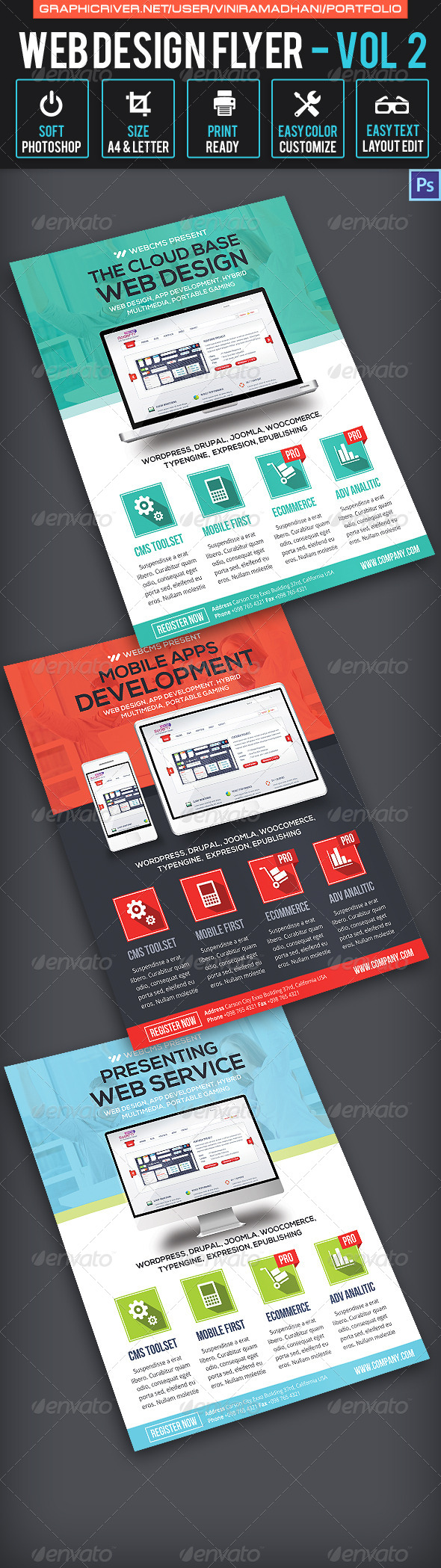 GraphicRiver Web Design Flyer Volume 2 6537468
