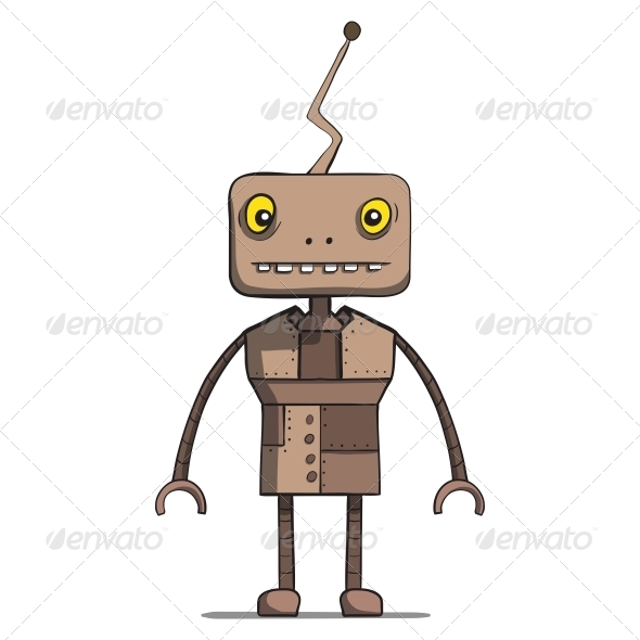 GraphicRiver Funny Cartoon Robot Vector Illustration 6537480
