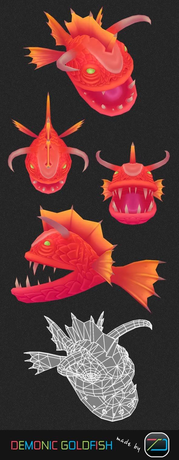 3DOcean Demonic Goldfish 6537690