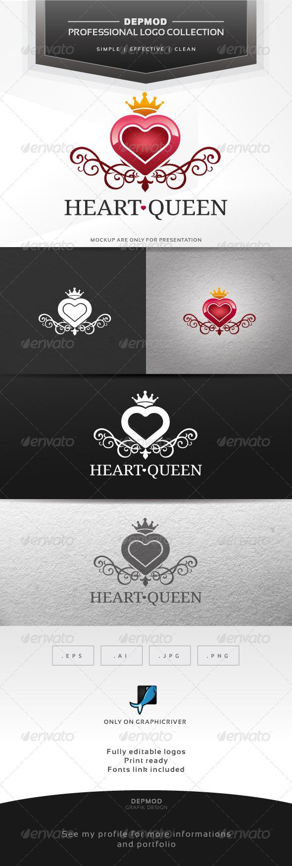 GraphicRiver Heart Queen Logo 6537718