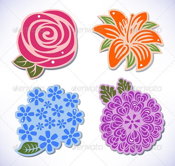 GraphicRiver Four Flowers 6537758