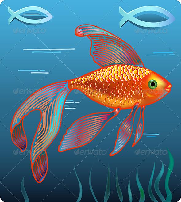GraphicRiver Golden Jesus Fish 6537828