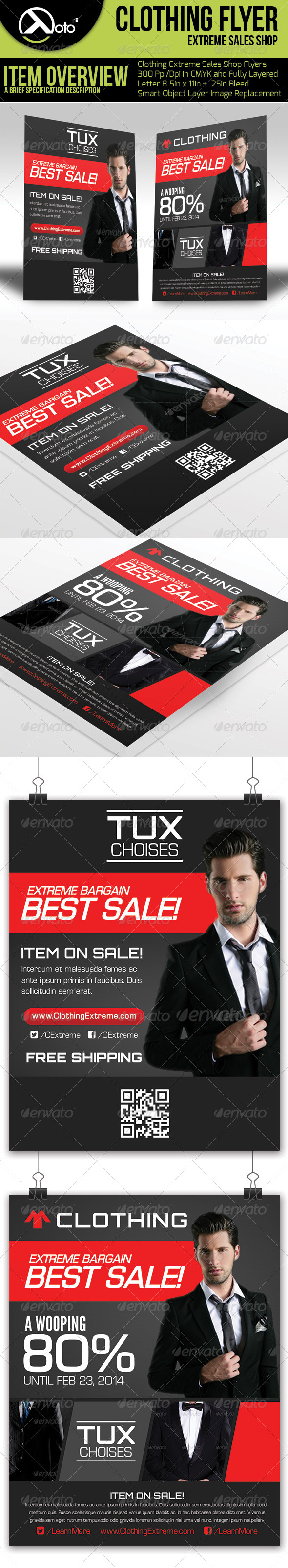 GraphicRiver Clothing Extreme Sale Flyers 6538314