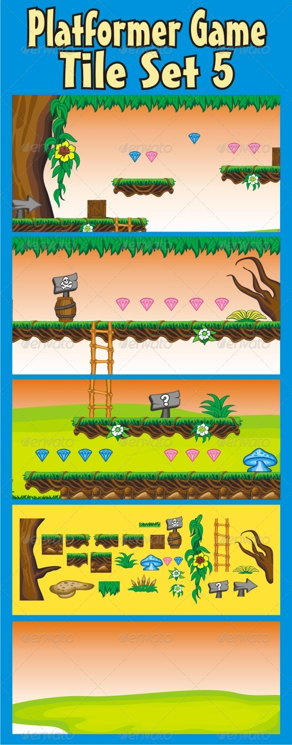 GraphicRiver Platformer Game Tile Set 5 6538434