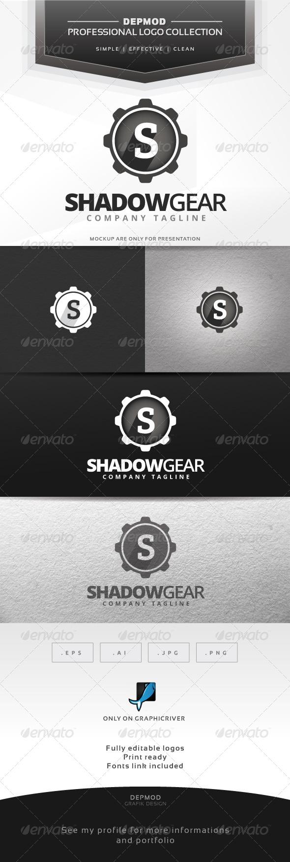 GraphicRiver Shadow Gear Logo 6538439