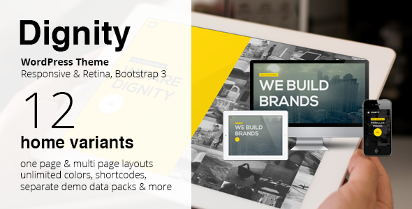 ThemeForest DIGNITY WordPress One Page Responsive Portfolio 6538685