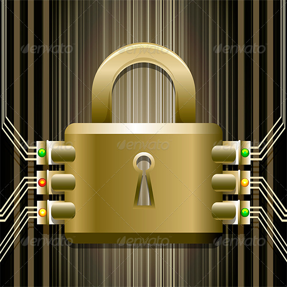 GraphicRiver The Electronic Lock 6538738