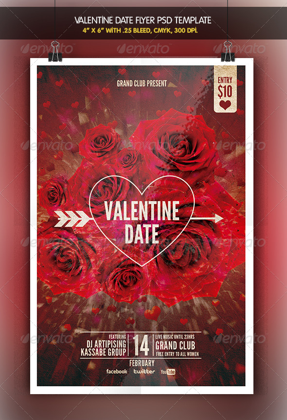 Valentine Date | Flyer Template - Holidays Events