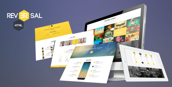 Reversal Parallax One Page HTML Template (Portfolio) images