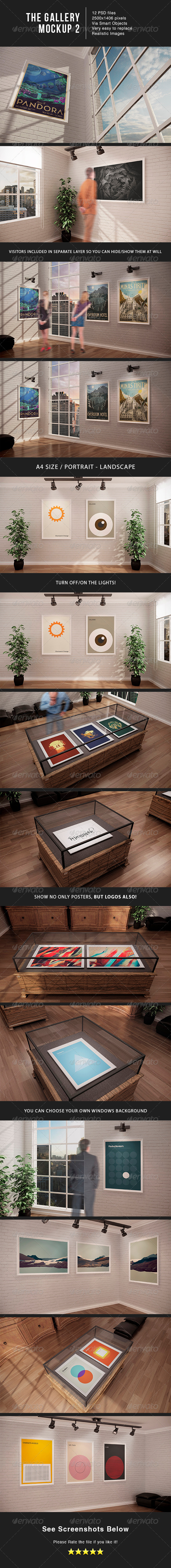The Gallery 2 + Museum MockUp Bundle - Posters Print