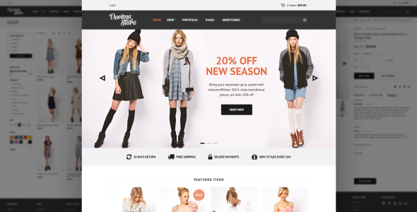 Decima eCommerce HTML Template - Retail Site Templates