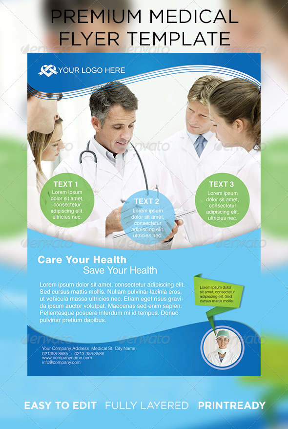 medical flyer template free