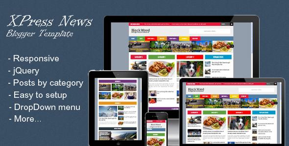 ThemeForest XPress News Responsive Blogger Magazine 6539139