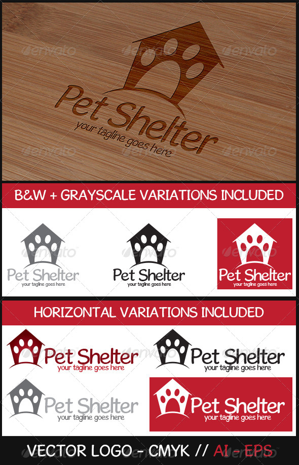 GraphicRiver Pet Shelter Logo 6539311