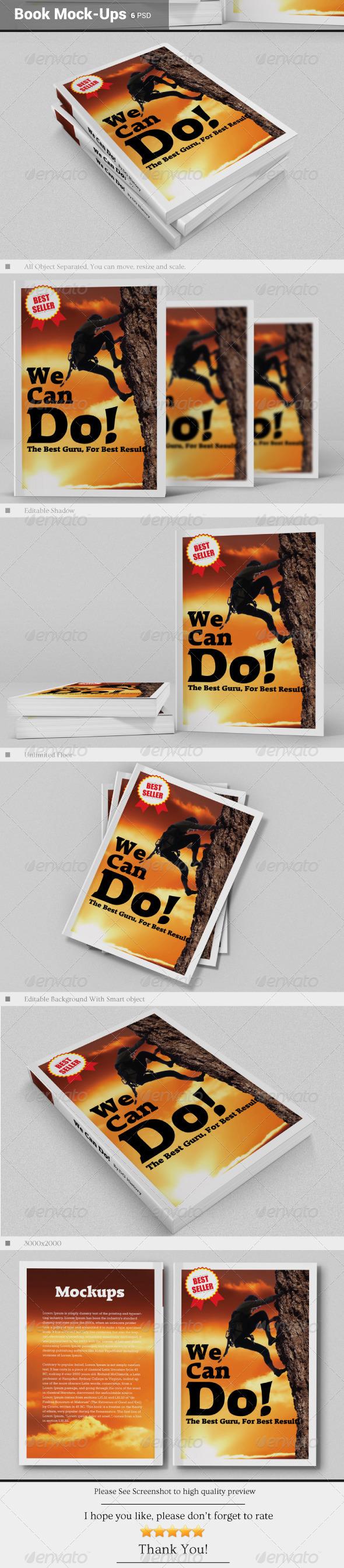 GraphicRiver Book Mock-Ups 6539351