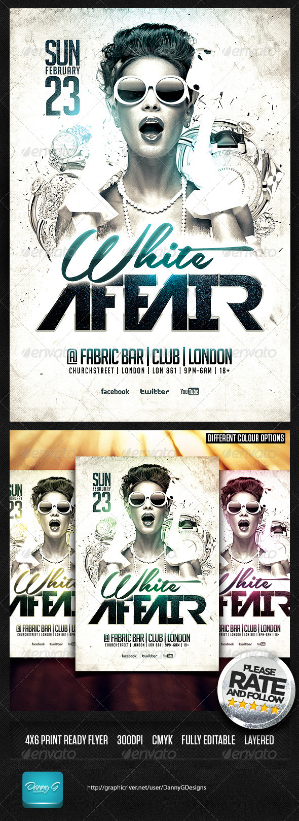 White Affair Flyer Template PSD - Clubs & Parties Events