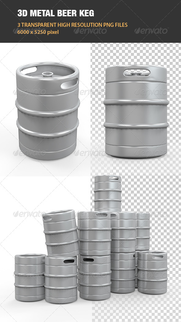 GraphicRiver Metal Beer Keg 6539824