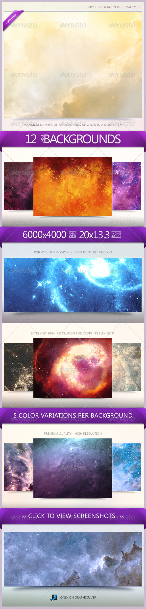 GraphicRiver Space Backgrounds Volume 3 6539856