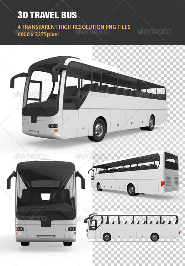 GraphicRiver 3D Travel Bus 6540147