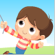 Boy Flying a Kite - VideoHive Item for Sale
