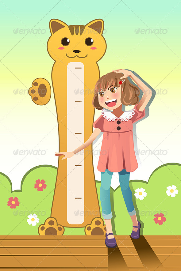 GraphicRiver Girl Measuring her Height 6540967
