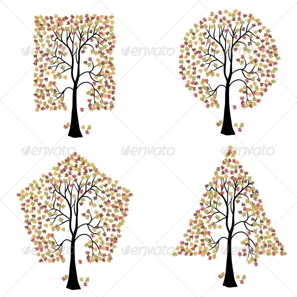 GraphicRiver Trees of Different Geometric Shapes 6541113