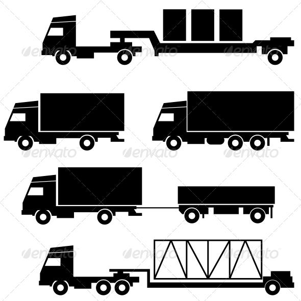 GraphicRiver Transportation Symbols Set 6541114