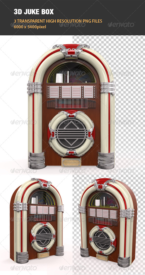 GraphicRiver 3D Juke Box Radio 6541118