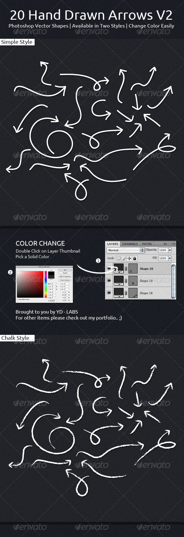 GraphicRiver 20 Hand Drawn Arrows V2 6541145
