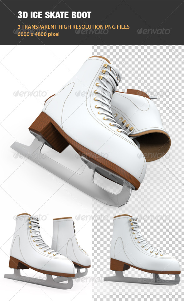 GraphicRiver 3D Ice Skate Boot 6541189