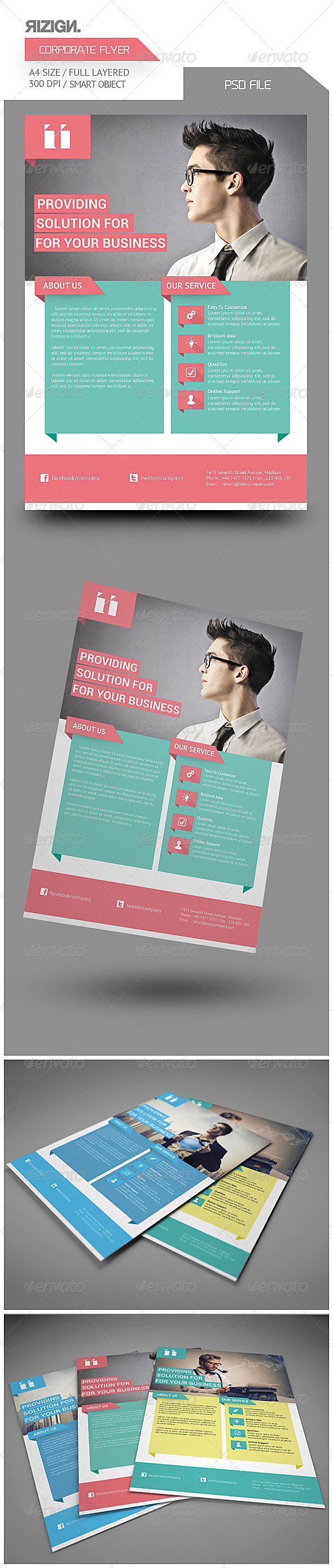 GraphicRiver Corporate Flyer 6541247