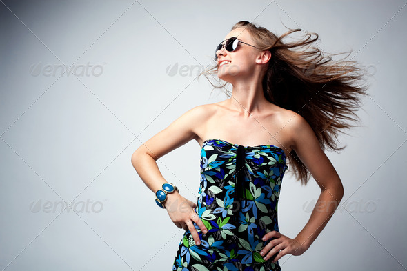 Glamour woman dancing - Stock Photo - Images