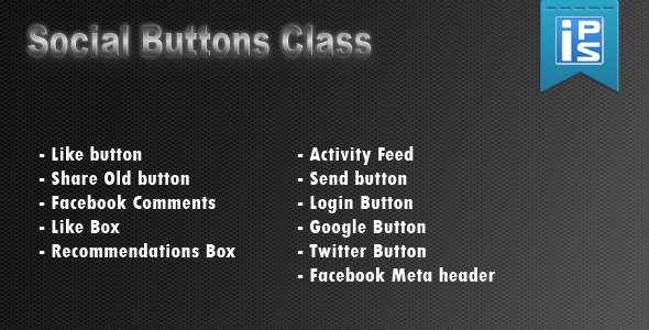 Social Buttons Helper Class - CodeCanyon Item for Sale