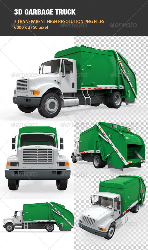GraphicRiver 3D Garbage Truck 6541536