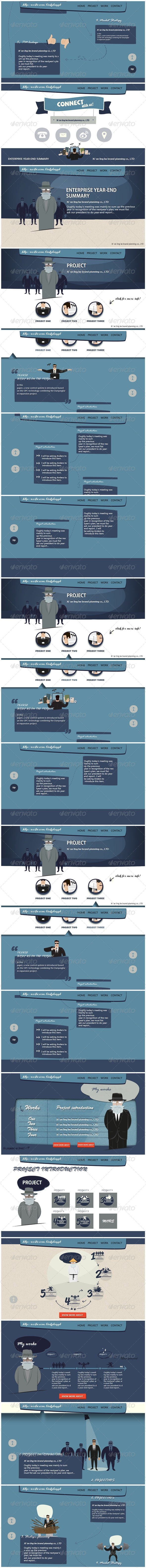GraphicRiver Cartoon annual summary PowerPoint Presentation 6500569