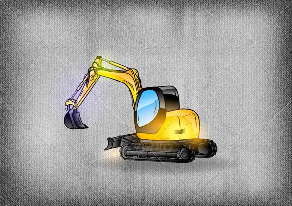 GraphicRiver Excavator 6541784