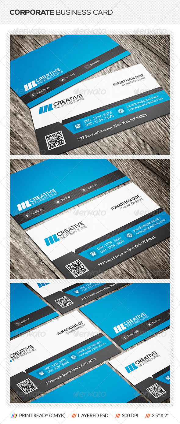 GraphicRiver Corporate Business Card 6542014