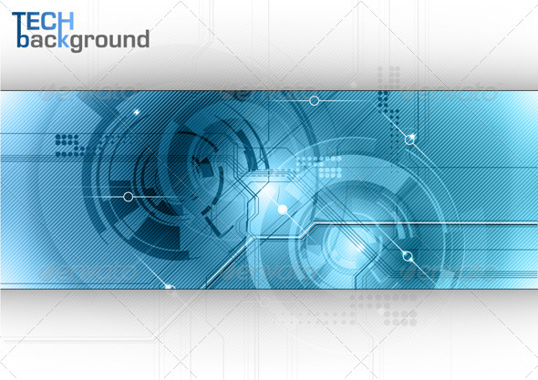 GraphicRiver Blue Tech Background 6542054