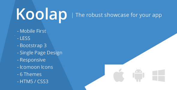 Koolap - The All-in-One App Landing Page