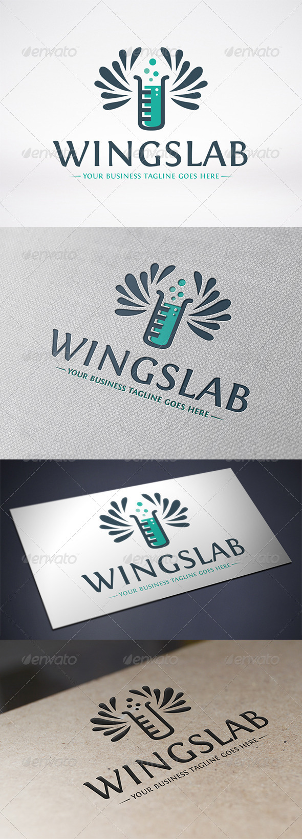 GraphicRiver Lab Wings Logo Template 6542214