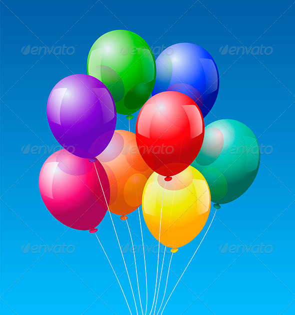 GraphicRiver Balloons Bunch 6542220