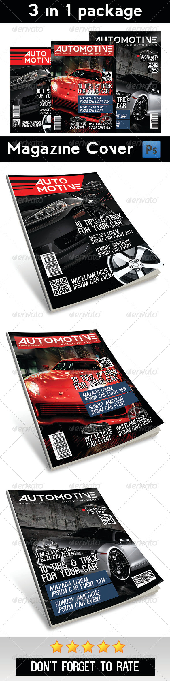 Automotive Magazine Cover Vol 1