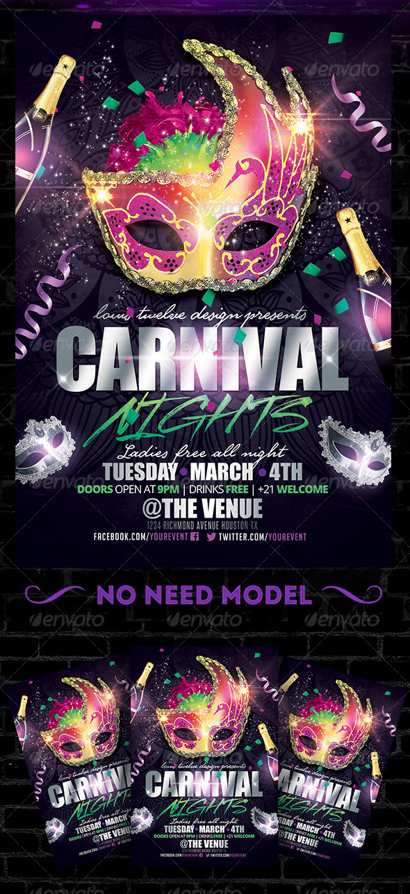 GraphicRiver Carnival Nights Flyer Template 6542309