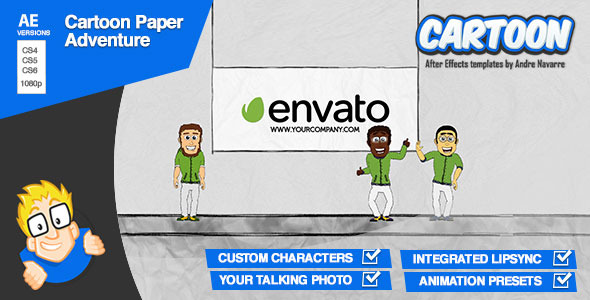 Cartoon Paper Adventure - After Effects Template | VideoHive 933907