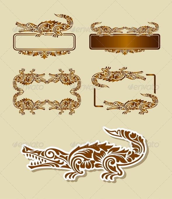 GraphicRiver Crocodile Pattern Decoration 6542393