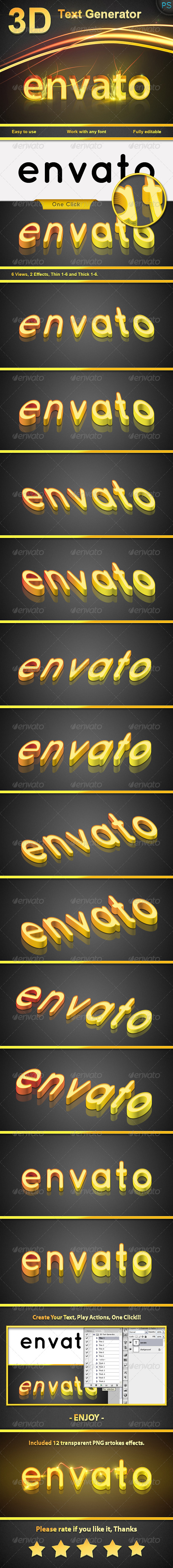 GraphicRiver 3D Text Generator Actions 6542395