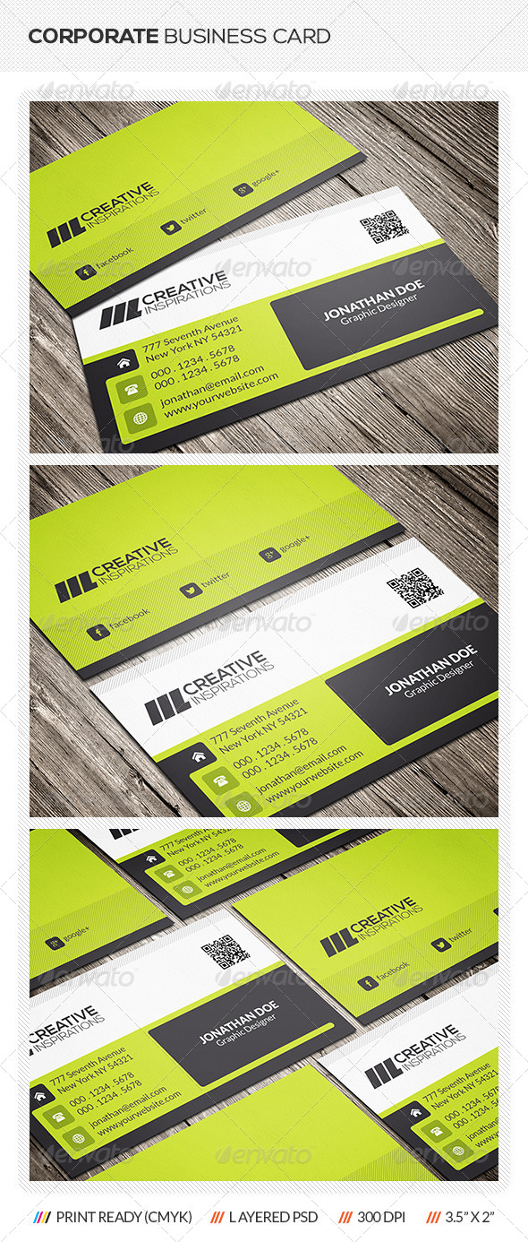 GraphicRiver Modern Corporate Business Card 6542407