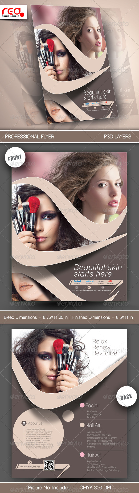 GraphicRiver Beauty Salon Flyer Template 6542420
