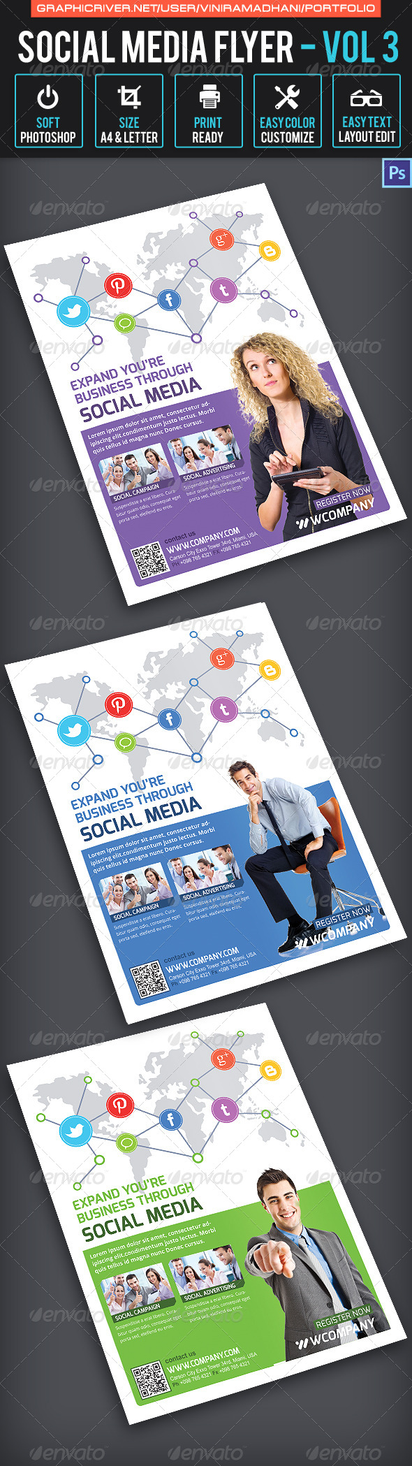 GraphicRiver Social Media Flyer Volume 3 6542427